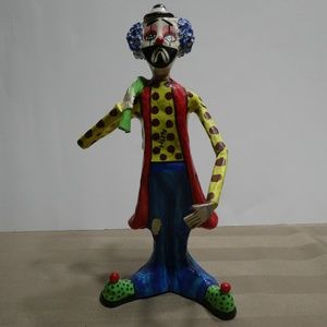 Other - Clown Hand crafted & painted Paper Mache Figurine